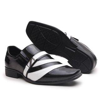 Sapato Social Miletto em Material Tecnológico - Capucino