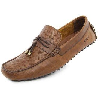 Sapato Social Mocassim Couro Masculino Confortavel Casual