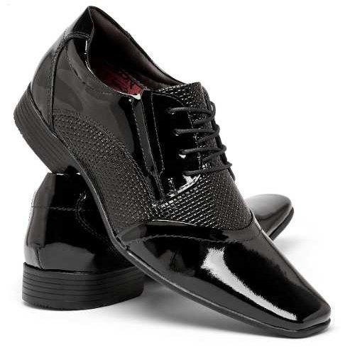 Cadarço Couro Masculino Em Sapato Com Social Legítimo Nevano Preto ztt4Pf