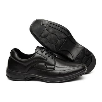 Sapato Social Ollie Cadarço Liso Masculino