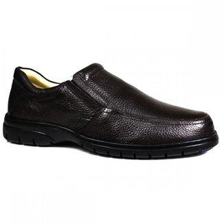 Sapato Social Ortopédico Confort Couro Masculino