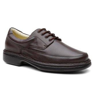 Sapato Social Ortopédico Masculino Couro Conforto Dia a Dia