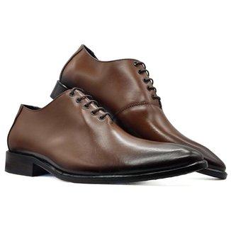 Sapato social oxford masculino bico arredondado sola couro MOD 2001