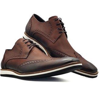 Sapato Social Oxford Masculino Bico Fino Sola Eva MOD 516EVA