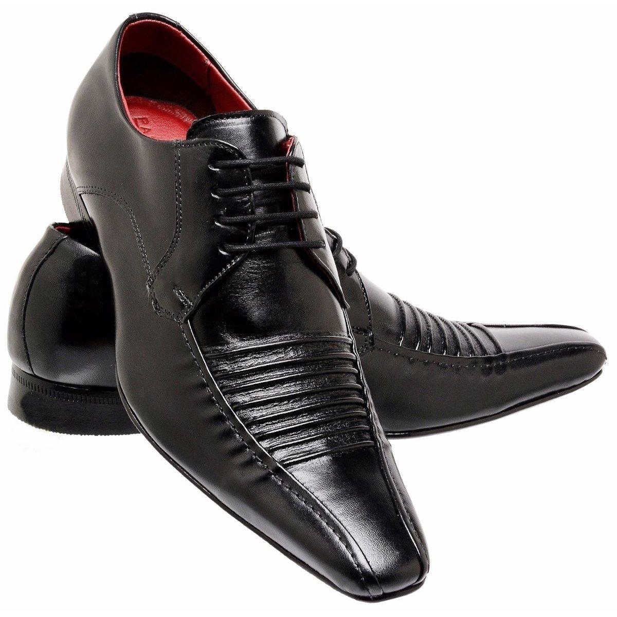 c33fac0c5d Sapato Social Paulo Vieira Estilo Italiano Em Couro Com Cadarço - Preto - Compre  Agora