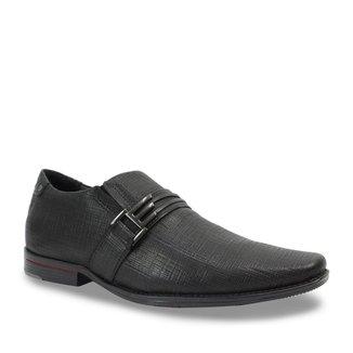 Sapato Social Pegada Couro Masculino Fivela Decorativa