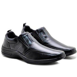 Sapato Social Pipper Comfort Masculino Couro Carneiro