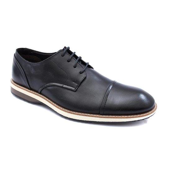 Sapato Social PisaForte Premium Conforto Masculino - Preto