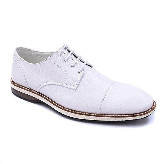 Sapato Social PisaForte Premium Conforto Masculino - Branco