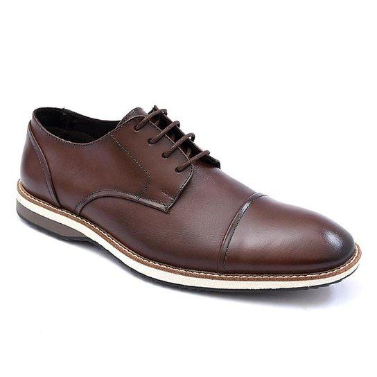 Sapato Social PisaForte Premium Conforto Masculino - Marrom
