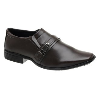 Sapato Social Pmt Em Couro Ecológico Masculino