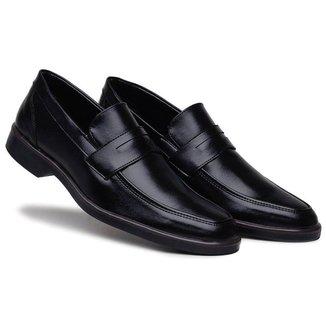 Sapato Social Preto Conforto Solado Bicolor