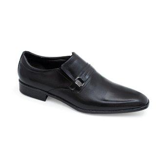 Sapato Social Preto Em Couro Laser 567004