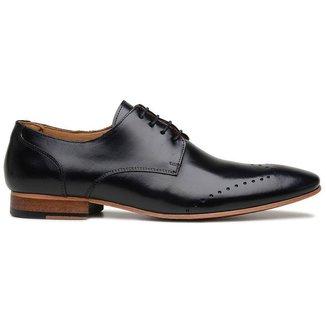 Sapato Social Preto Em Couro Wood 32212
