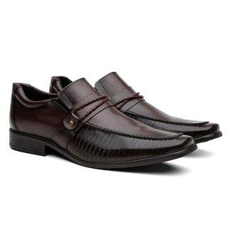 Sapato Social  Proença Bico Quadrado Elegante Masculino