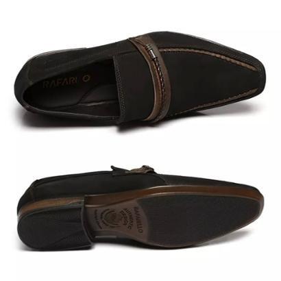 Sapato Social Rafarillo Couro Nobuck Kit 4 em 1 Masculino