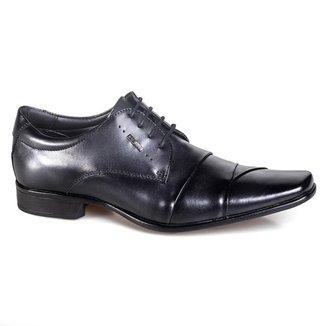 Sapato Social Rafarillo Las Vegas Couro Com Cadarço Casual