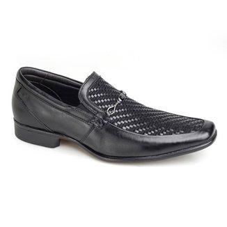 Sapato Social Rafarillo Las Vegas Couro Sem Cadarço Conforto