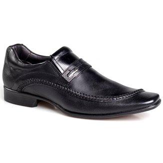 Sapato Social Rafarillo Masculino Couro Bico Quadrado Casual