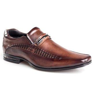 Sapato Social Rafarillo Masculino Couro Elástico Clássico