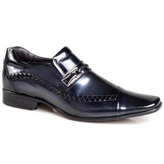 Sapato Social Rafarillo Masculino Couro Verniz Bico Quadrado