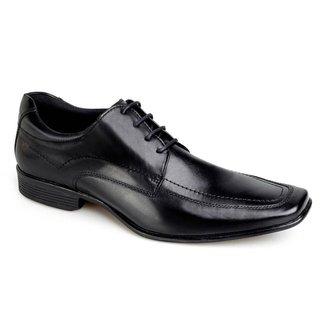 Sapato Social Rafarillo Office Couro Com Cadarço Liso Casual
