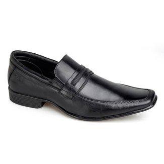 Sapato Social Rafarillo Office Couro Sem Cadarço Liso Casual
