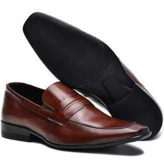 Sapato Social Sender Couro Slim Masculino