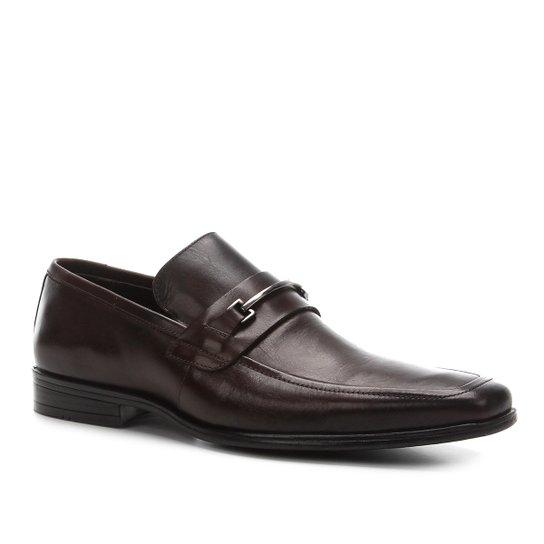 Sapato Social Shoestock Gravata Metal Masculino - Marrom