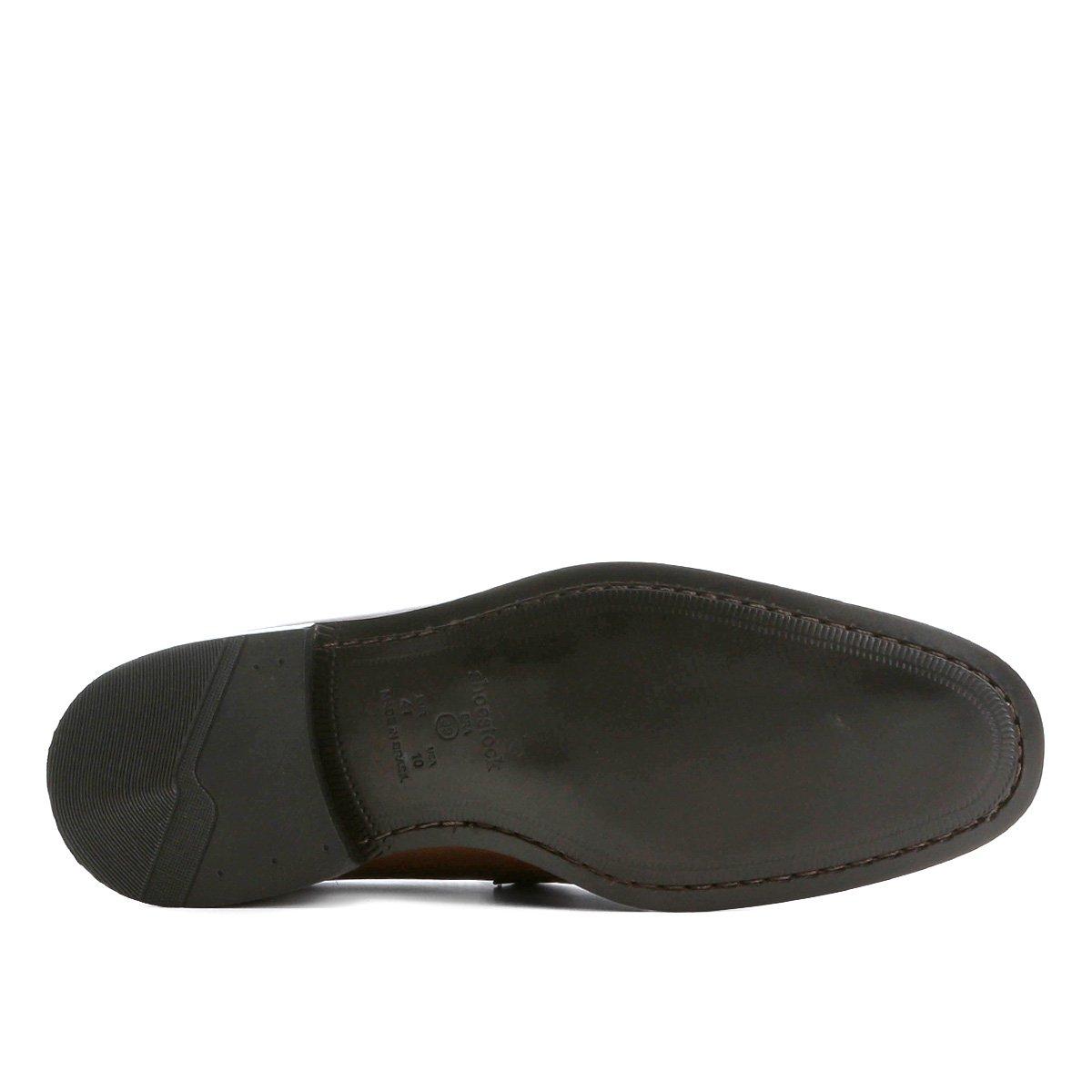 Marrom COURO Sapato Sapato Shoestock Social LOAFER Social RYqXw8