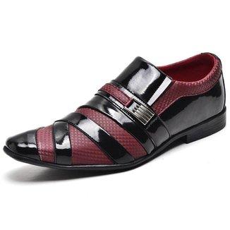 Sapato Social Top Franca Shoes Verniz Masculino