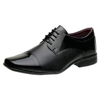 Sapato Social Torrenezzi Liso Verniz Cadarço Masculino