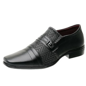 Sapato Social Torrenezzi Textura Bico Quadrado Metal Masculino