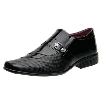 Sapato Social Torrenezzi Verniz Metal Liso Moderno Masculino