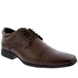 Sapato Social Valença Detalhe em Pesponto Marrom