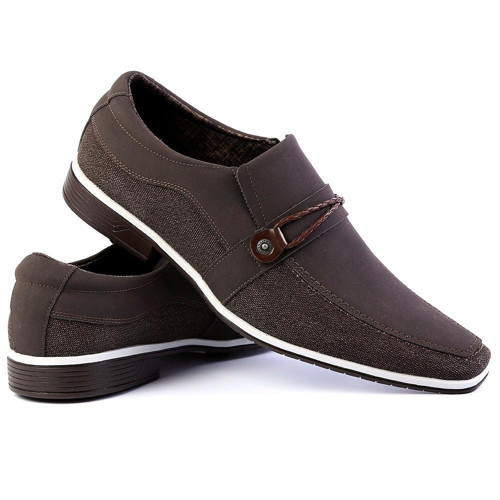 54f360179 Sapato Social Venetto Thor Confort Masculino - Marrom - Compre Agora ...