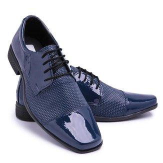 Sapato Social Verniz Bico Quadrado Macio Schiareli Masculino
