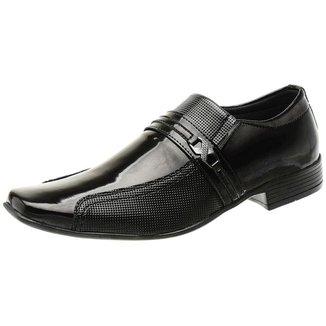 Sapato Social Verniz Solado Borracha Textura Macio San Lorenzo Masculino