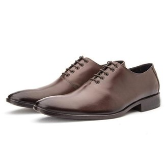 Sapato Social Wholecut Bigioni em Couro Marrom 43