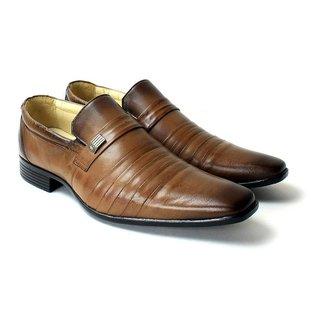 Sapato Social Zanuetto Confort Conhaque Masculino