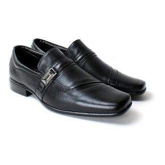 Sapato Social Zanuetto Couro Confort Liso Masculino