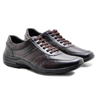 Sapato Torani Casual Cadarço Masculino Couro