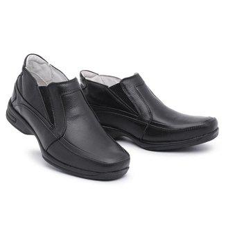Sapato Torani Confortável Elástico Couro Masculino