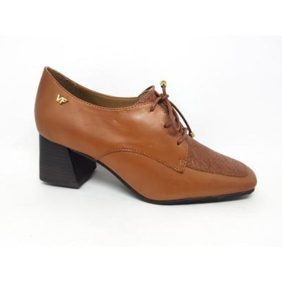 Sapato Verofatto Salto Bloco Oxford Couro Feminino