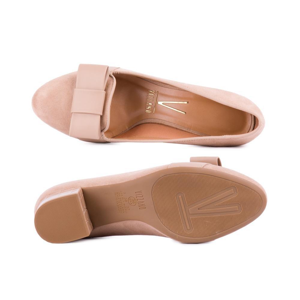 Vizzano Sapato Salto Com de Em Bege Laço t Grosso pw46dBrRqw