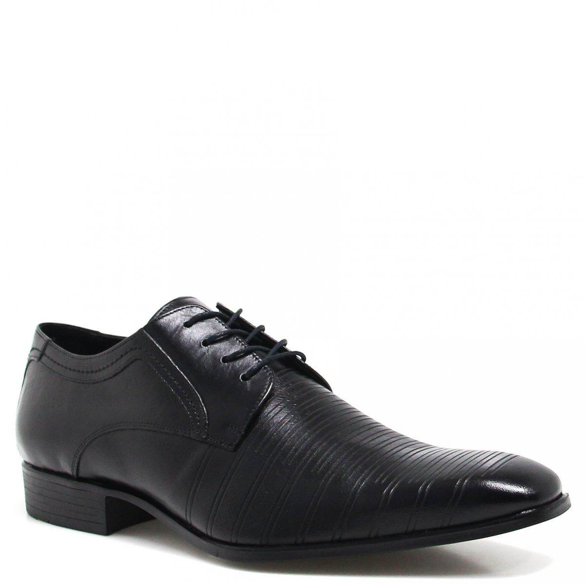 Social Shoes Zariff Sapato Preto Couro Sapato Zariff wxITtnEqFn