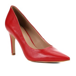 Scarpin Couro Shoestock Classic Salto Alto
