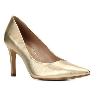 Scarpin Couro Shoestock Graciela Salto Alto Bico Fino