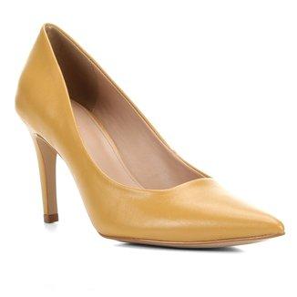 Scarpin Couro Shoestock Liso Salto Alto