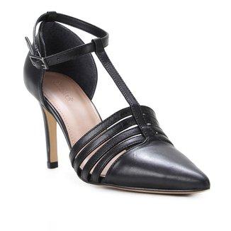 Scarpin Couro Shoestock Salomé Salto Alto